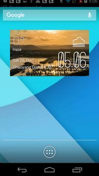 Coffs Harbour1 weather widget poster
