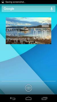 Gosford weather widget/clock poster