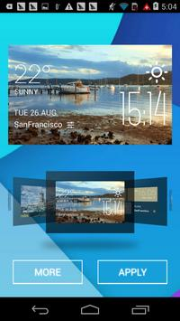 Gosford weather widget/clock apk screenshot
