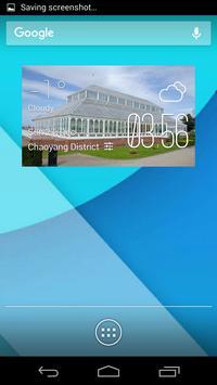 Gladstone weather widget/clock poster