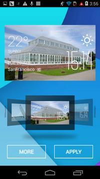 Gladstone weather widget/clock apk screenshot