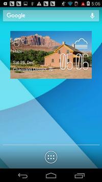 Grafton weather widget/clock poster