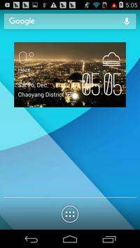 Griffith1 weather widget/clock poster