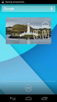 Lismore weather widget/clock poster