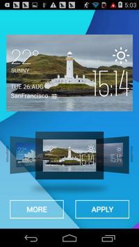 Lismore weather widget/clock apk screenshot