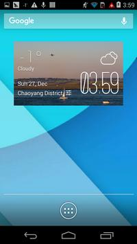 Logan weather widget/clock poster