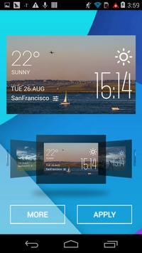 Logan weather widget/clock apk screenshot