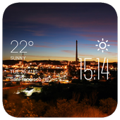 Mount Isa weather widget/clock icon