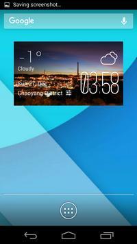 Mount Isa weather widget/clock poster