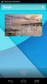 Perth weather widget/clock poster