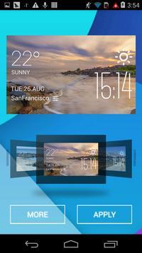 Perth weather widget/clock apk screenshot