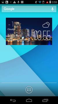 Southport weather widget/clock poster