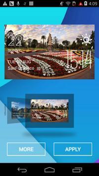 Toowoomba weather widget/clock apk screenshot