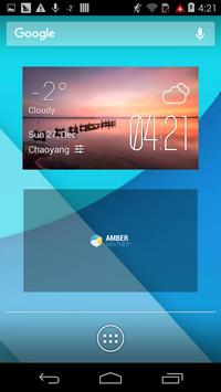 Wyong weather widget/clock poster