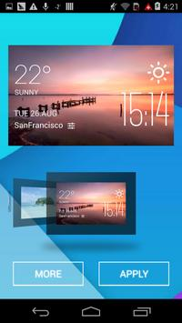 Wyong weather widget/clock screenshot 1