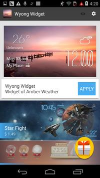 Wyong weather widget/clock screenshot 2