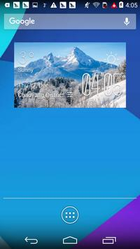 Alps Winter weather widget poster
