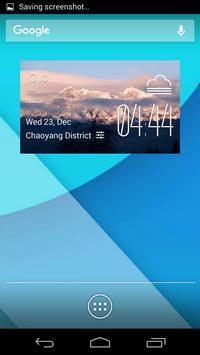 Ambato weather widget/clock poster