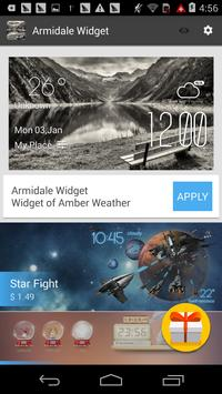 Armidale weather widget/clock screenshot 2