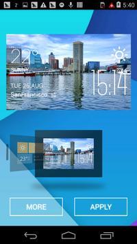 Baltimore weather widget/clock poster