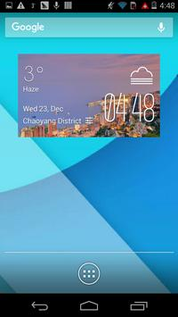 Coast City weather widget poster