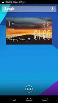 Clouds forest weather widget poster