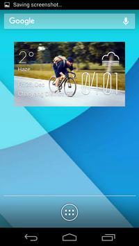 cycle weather widget/clock poster