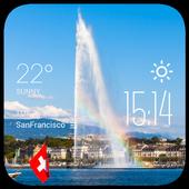 Geneva weather widget/clock icon
