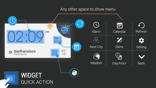 Geneva weather widget/clock apk screenshot