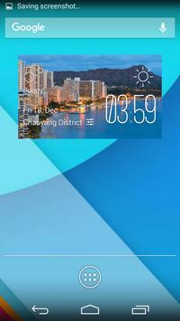Hawaii2 weather widget/clock poster