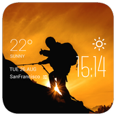 f2v2 hiking1 weather widget/clockq1w1 icon