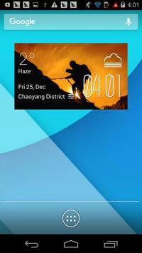 f2v2 hiking1 weather widget/clockq1w1 poster