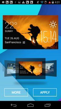 f2v2 hiking1 weather widget/clockq1w1 screenshot 1