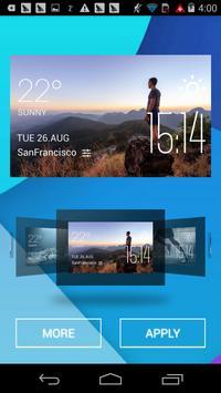 hiking weather widget/clock screenshot 1