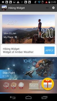 hiking weather widget/clock screenshot 2