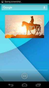 horse riding weather widget poster