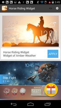 horse riding weather widget apk screenshot