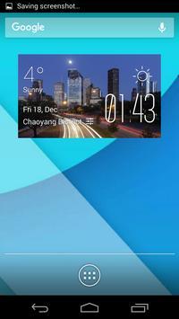 Houston weather widget/clock poster