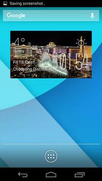 las vegas weather widget/clock poster