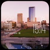 Lexington weather widget/clock icon