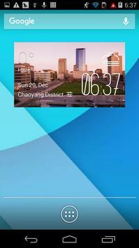 Lexington weather widget/clock poster