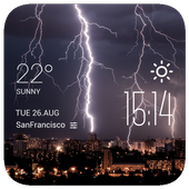 Lightning weather widget/clock icon