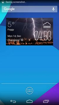 Lightning weather widget/clock poster