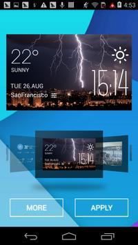 Lightning weather widget/clock apk screenshot