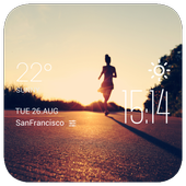marathon weather widget/clock icon