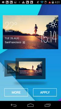 marathon weather widget/clock apk screenshot