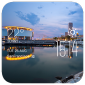 Milwaukee weather widget/clock icon