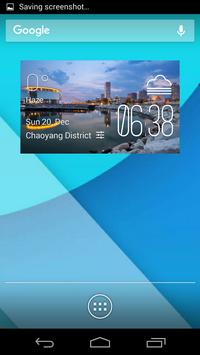 Milwaukee weather widget/clock poster