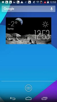 Moon2 weather widget/clock poster