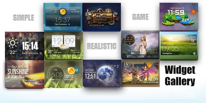 Moon weather widget/clock apk screenshot